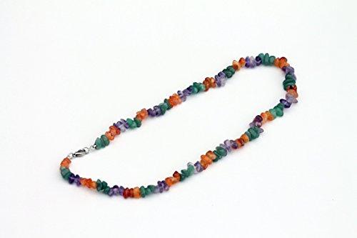 Orange Jade Necklace (Carnelian, Jade and Amethyst Crystal Energy Necklace Unisex)