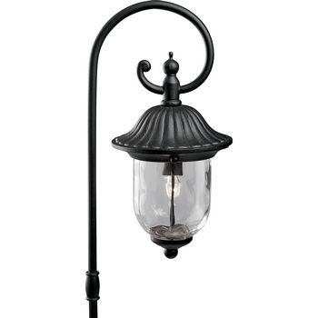 Progress Lighting P5275-31 12-Volt Die Cast Path Light with Clear Water Glass, Black