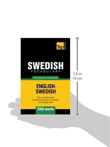 7000 words Swedish vocabulary for English speakers