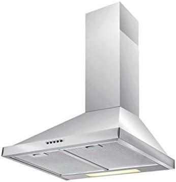 we point Campana extractora de Acero Inoxidable de Pared con lámpara 90 x 47,7 cm: Amazon.es: Hogar