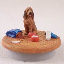 Conversation Concepts Miniature Bloodhound Candle Topper Tiny One ''A Day at Home'' by Conversation Concepts
