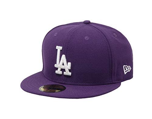 New Era 59Fifty Hat Los Angeles Dodgers Purple Fitted Baseball MLB Cap (7)