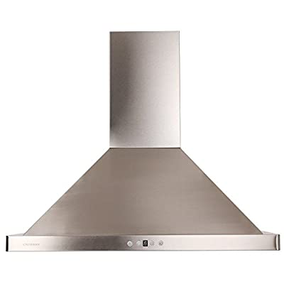 "DKB 30"" Wall Mounted Range Hood Brushed Stainless Steel 600 CFM"