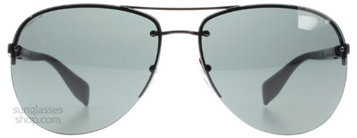 Prada Sport PS56MS 1BO1A1 Black PS56MS Aviator Sunglasses Lens Category 3 - Aviator Prada Sunglasses