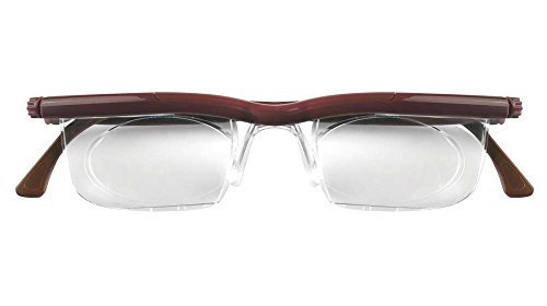 Adlens Adjustables Variable Focus Eyeglasses - You Set the Magnification for a Perfect View (Chestnut, 0 x) by - Mall Pacific Eyeglasses