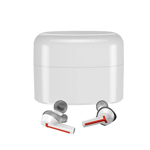 - Solovley Bluetooth Headphones, TWS Mini Wireless V5.0 Earphones Bass Stereo Sound Waterproof in-Ear Headsets with Built-in Mic Portable Charging Case Earbuds for iPhone, Samsung, Huawei etc (Orange)