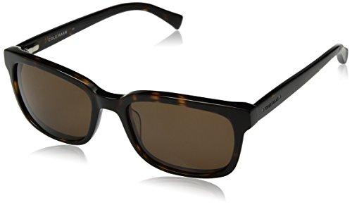 Cole Haan Men's Ch6010 Plastic Square Sunglasses, Dark Tortoise, 55 - Cole Haan Sunglasses
