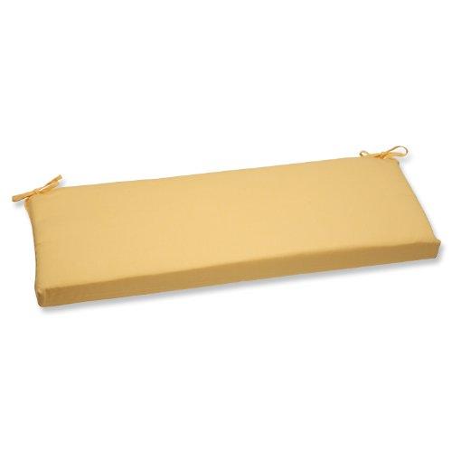 Pillow Perfect Bench Cushion with Yellow Sunbrella Fabric