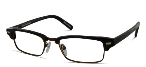 Benji Frank Ford Half Metal Plastic Tortoise Square Rectangle Eyeglasses Retro Nerd Vintage Style - Acetate Glasses Italian