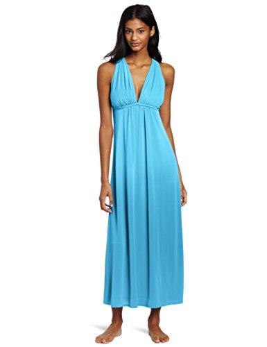 Natori Women's Aphrodite Nightgown, Mirage Blue, Large