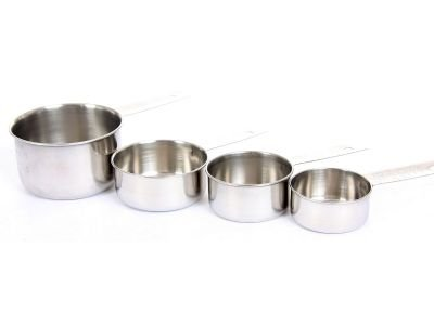 Stainless Steel 4 Pieces Set Of Measuring Cups, Case of 60 by DollarItemDirect