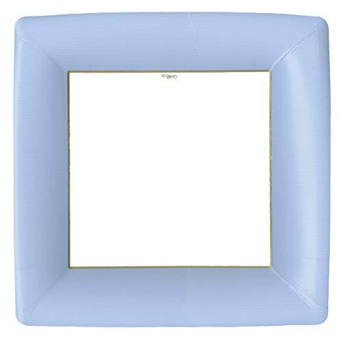 Caspari Paper Plates Disposable Plates for Dinner Plates 10.25 Inch Party Plates Nautical Decor Beach Decor Solid Blue Plates Pak of 16