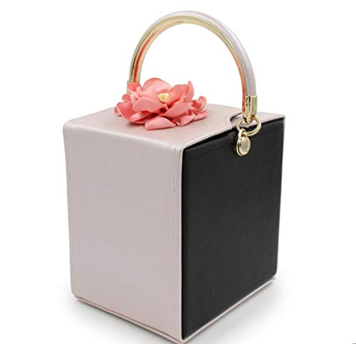 Qualità Piazza Ladies Darkblue Pranzo ' Alta Sera Borsa Fiore Diamante Sacchetto Da black Di Mobile fgBnzp