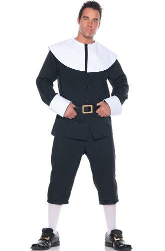 Underwraps Men's Pilgrim Costume, Black/White,
