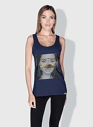 Creo Angelina Jolie 3Araby Tanks Tops For Women - M, Blue