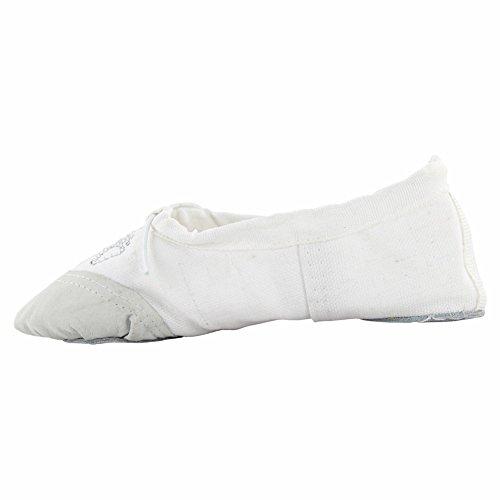 Zapatos De Baile De Ballet Canvas De Womans Yoga Blancos