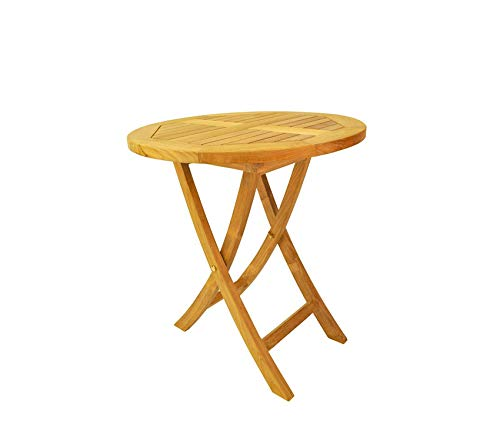 Аndеrsоn Tеаk Deluxe Premium Collection Bahama Round Bistro Folding Table 27-Inch Decor Comfy Living Furniture ()