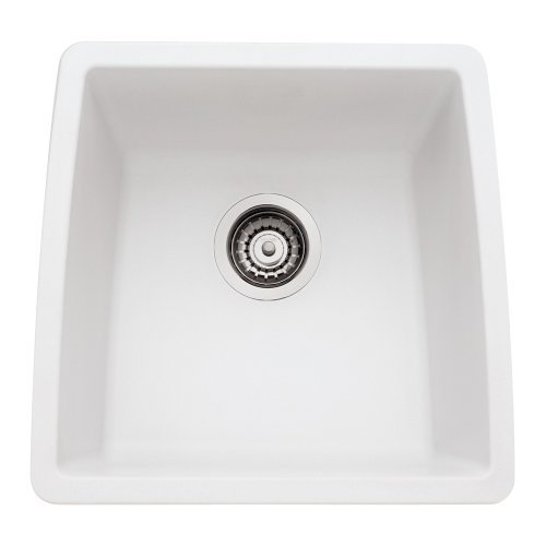 Blanco 440081 Performa Silgranit II Single Bowl Sink, White by Blanco by Blanco