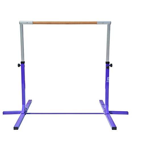 Modern-Depo Adjustable Height Kip Bar Pro | Junior Training Gymnastics Horizontal Bar Beech Wood - Purple by Modern-Depo (Image #6)