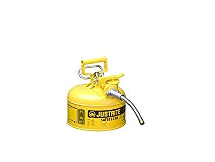 Type II AccuFlow Steel Safety Can for flammables, 1 gal, S/S Flame Arrester, 5/8