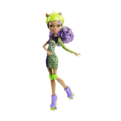 Monster High – Muñeca, Monstruopatinadora Clawdeen Wolf (Mattel Y8350)