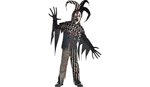 Twisted Jester Halloween Costume for Boys, Extra Large,