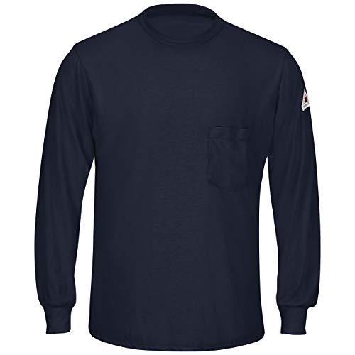 Bulwark Men's Long Sleeve Lightweight T-Shirt, Navy, X-Large