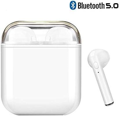 I8X Auriculares Bluetooth, Auriculares Inalámbricos Bluetooth, Con HD Micrófono y Caja de Carga, Auriculares Intrauditivos para iPhone Samsung y otros