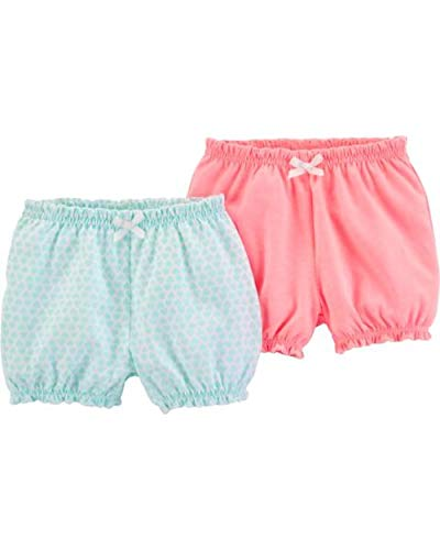 - Carter's Baby Girls' 2-Pack Bubble Shorts (Neon Pink/White, 3 Months)