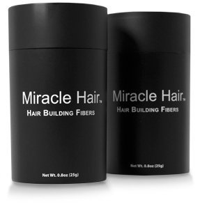 MIRACLE HAIR 150 Day Supply: Premium Hair Fibers For Thinning Hair - Thicker, Fuller Looking Hair In 60 Seconds! (MEDIUM (Black Light Hairspray)