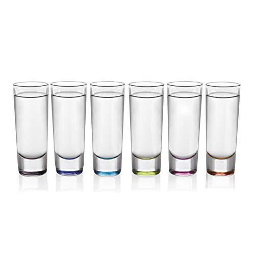 Libbey Troyano Multi-Color Shooter Glasses, Set of -