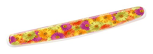 3M Gel Wrist Rest for Keyboards, Soothing Gel Comfort with Durable, Easy to Clean Cover, 18'', Fun Daisy Design (WR308DS) by 3M
