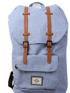 Canvas Vintage Rucksack, Daypacks & Trekkingrucksack (hellgrau) l-blue