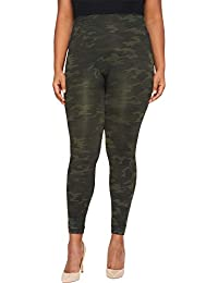 Women's Plus Size Look at Me Now Seamless Leggings Green...