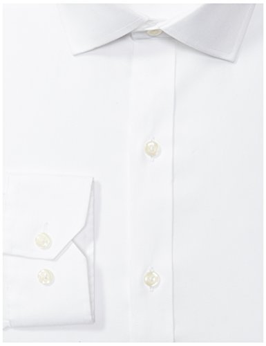 """BUTTONED Fit Spread-Collar Solid Non-Iron Dress Shirt , 16.5"""" 35"""""""