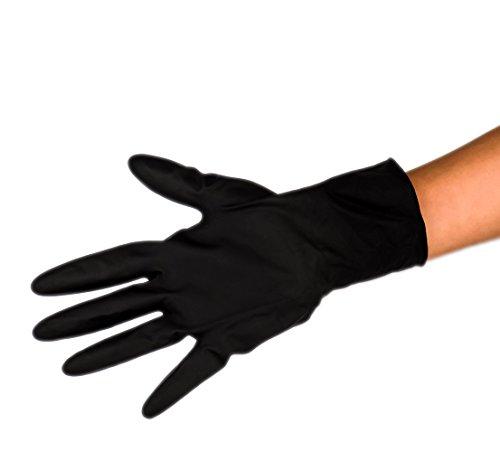 Dannyco Black Satin Reusable Latex Gloves - Medium - 10 - Satin 10 Gloves