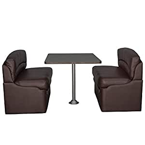 Amazon Com Recpro 42 Quot Dinette Booth Set With Table And