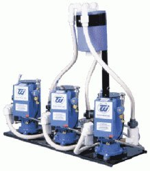 Tech West Triple Motor 3hp Liquid Ring Vacuum System w/ Water Recycler(6 User) VPL6T2R