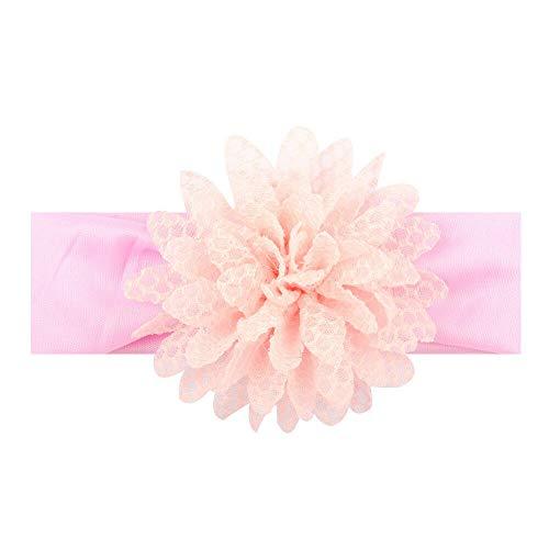 (Kids Girls Baby Headband Flower Hair Band Accessories Headwear DIY Mesh Gift NT (Color - Light Orange))