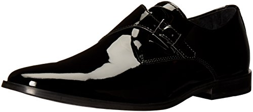 Calvin Klein Men's Norm Patent Tuxedo Loafer, Black, 12 M US
