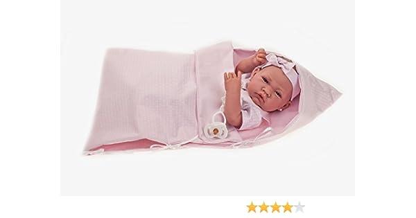 Antonio Juan aj5024 – Recien Nacida Saco muñeca Realista, Color Rosa