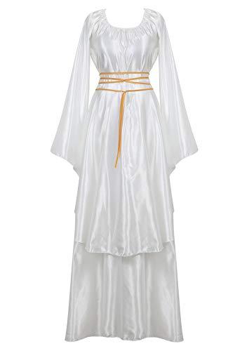 Women's Halloween Cosplay Costume Renaissance Medieval Irish Over Lolita Dress Victorian Retro Gown Role -
