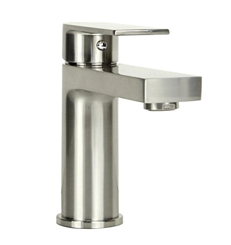 Anna Style Brushed Nickel Solid Brass Single-hole Lever Bathroom Vanity Lavatory Faucet - Anna Brushed Nickel Finish Bathroom Faucet (Anna Vanity)