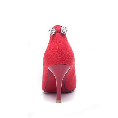 Sandales Compensées Rouge EU AdeeSu 5 36 Femme Red SDC05916 ZUxrZE5wq6