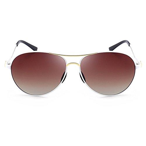 Sol Señoras Moda Metal Las La GAOYANG La Del Color Sol Del De De Gafas Grilled De Rojo White Espejo De Gafas De Polarizador Marea De Las Retros Aa8PHxan