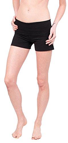 Hard Tail Rolldown Long Shorts (XS, Black)