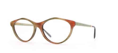 GOLD & WOOD - Monture de lunettes - Femme Vert Green Orange
