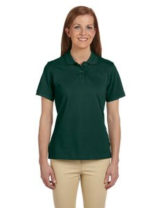 Harriton Ladies' 6 oz. Ringspun Cotton Piqué Short-Sleeve Polo M Hunter