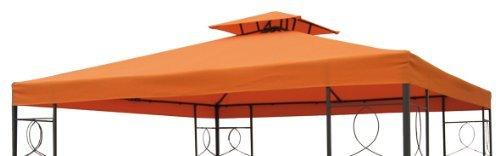Pavillon Ersatzdach mit PVC Beschichtung (wasserdicht) - 3x3 Meter - 270 gr/m² Polyester (Terracotta)