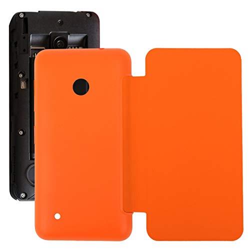 SHUGUO Flex Cable Repair Parts Horizontal Flip Solid Color Battery Back Cover Case for Nokia Lumia 530 / N530(Black) (Color : Orange) (Cable Flex Flip)